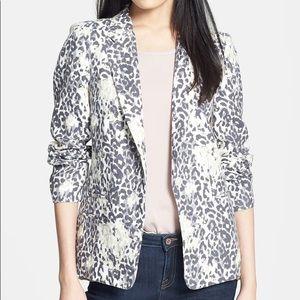 Joie Mehira Animal Print Linen Blazer